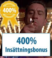 400% casinobonukset