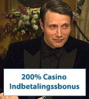 200% Casino Indbetalingsbonus