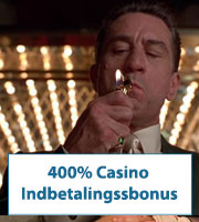 400% Casino Indbetalingssbonus